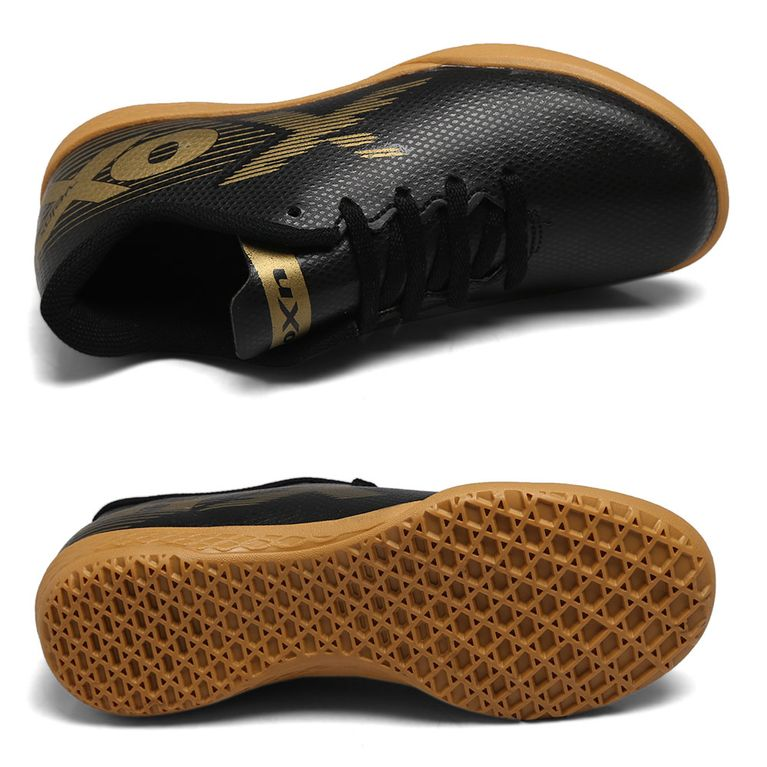 Chuteira Futsal Oxn Preto/Dourado Masculino Velox Ii