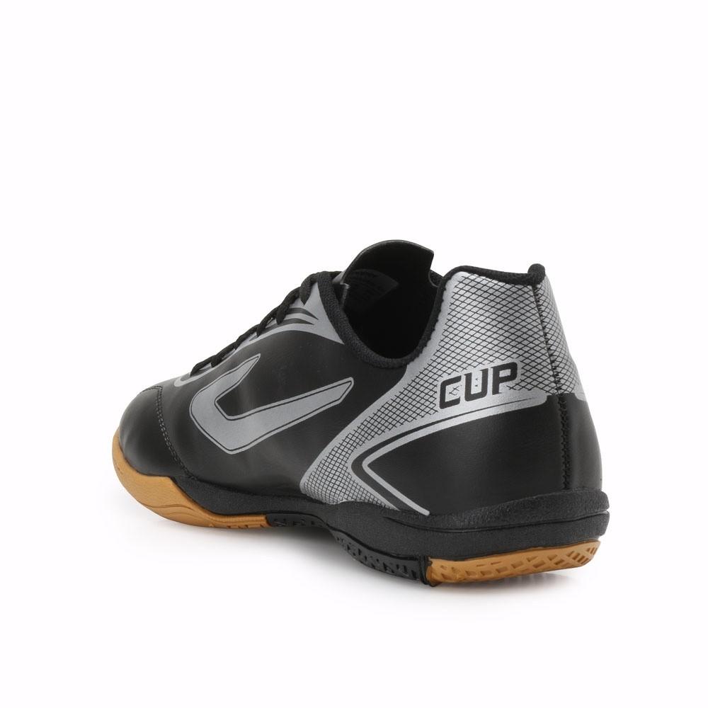 Chuteira Futsal Topper Preto/Prata Masculino Cup Ii