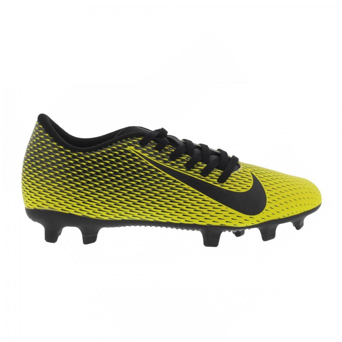 Chuteira Nike Amarelo/Pto Masculino Bravata Ii Campo