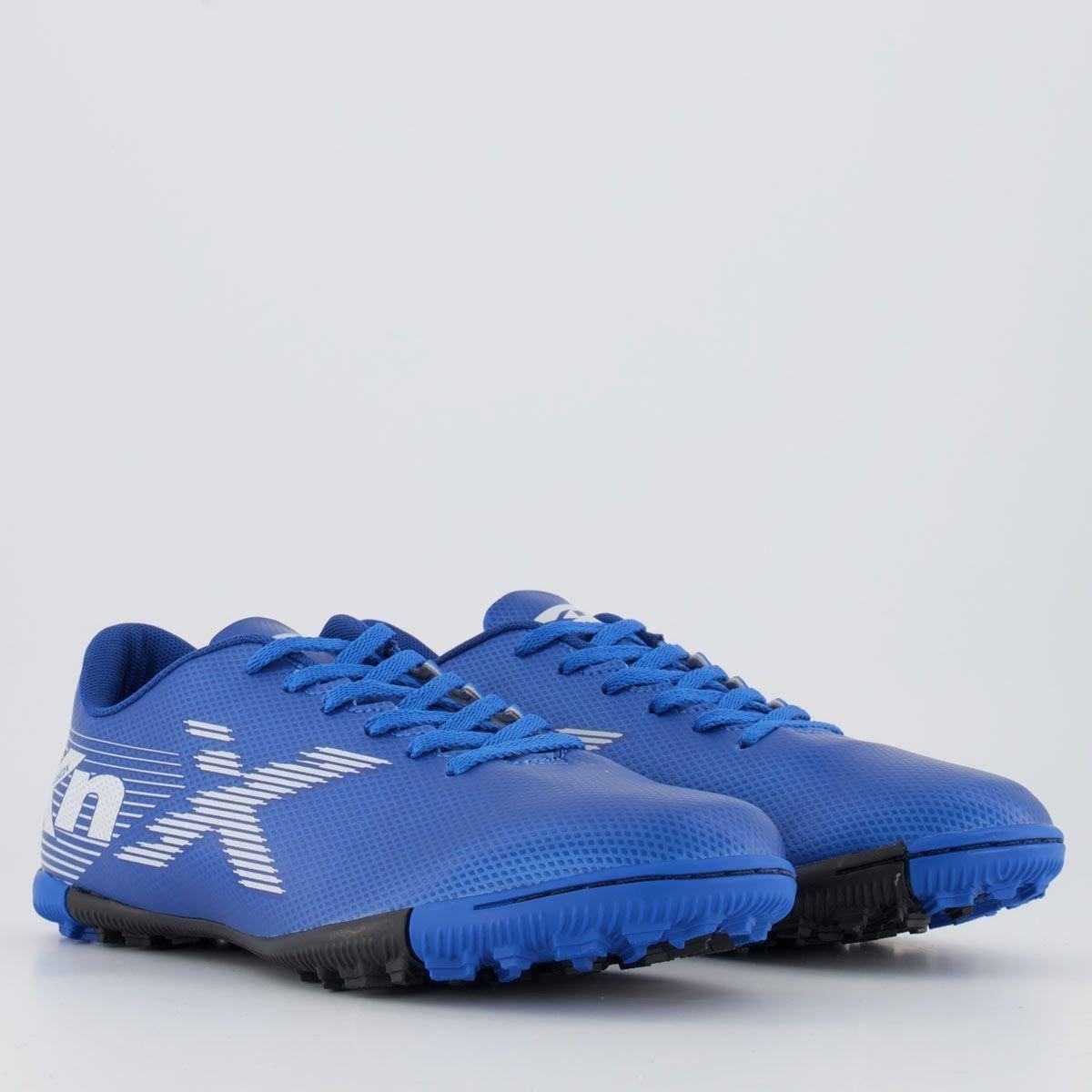 Chuteira Society Oxn Azul/Branco Masculino Velox Ii