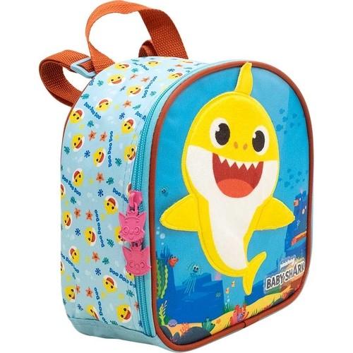 Lancheira Xeryus Azul/Amarelo Infantil 9044 Baby Shark Plush