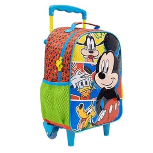 Mochila Xeryus Colorido Masculino 9311 Mickey C/Rodas