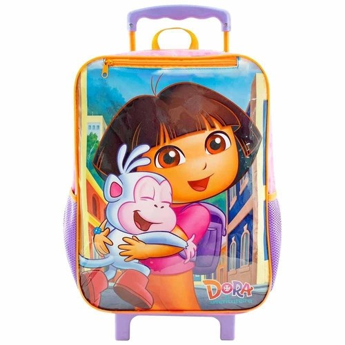 Mochila Xeryus Rosa/Lilas Feminino 8780 Dora -Boots C/ Rodas