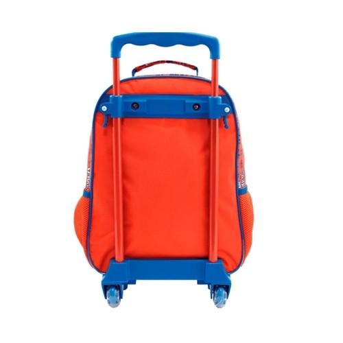 Mochila Xeryus Vermelho/Azul Masculino 8660 Spider Man C/Rodas
