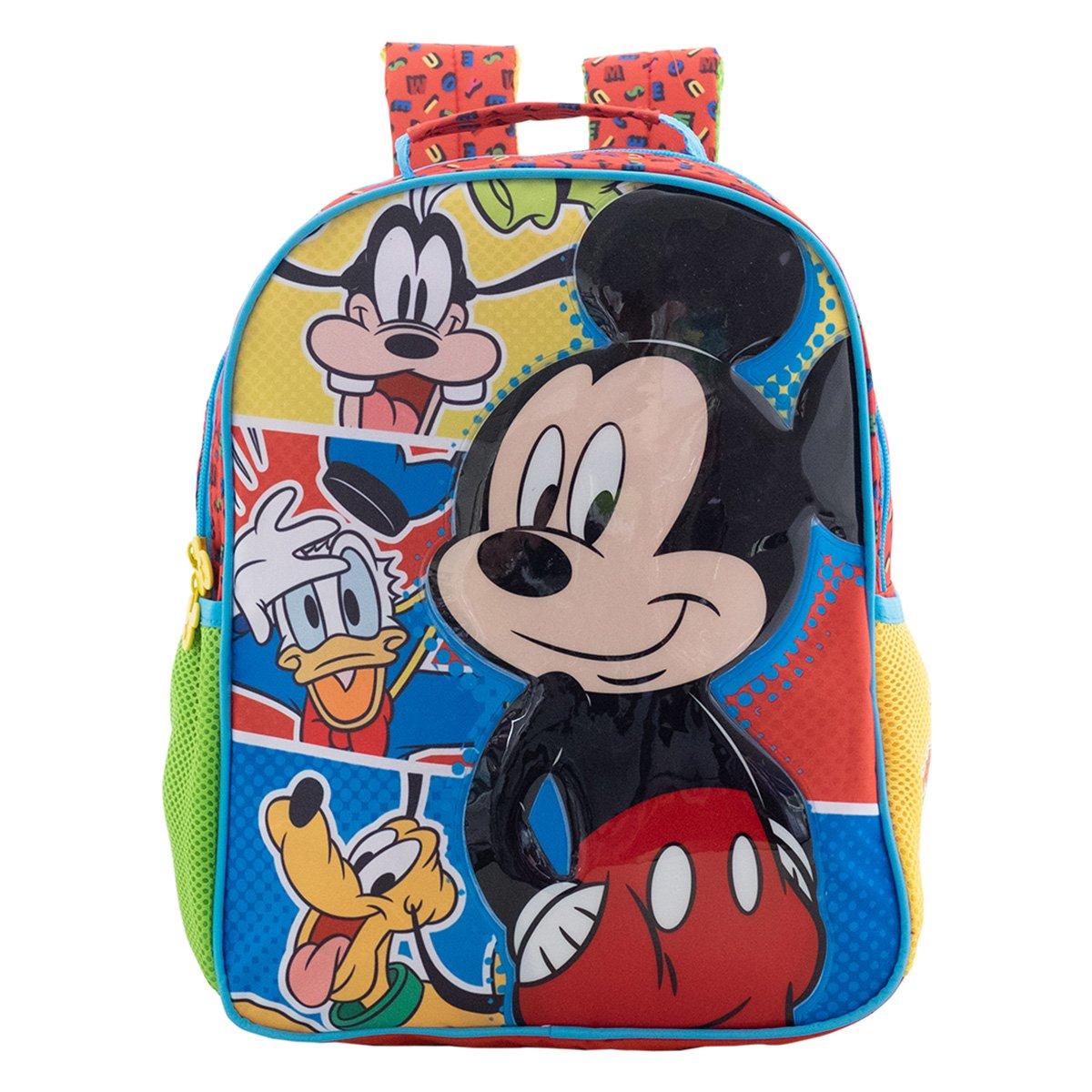 Mochila Xeryus Vermelho/Azul Masculino 9313 Mickey