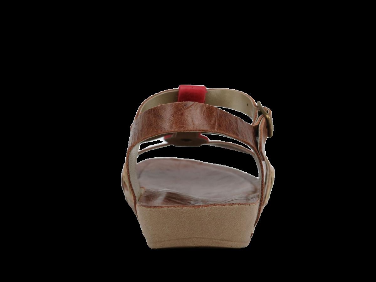 Sandalia Andacco Marrom/Coral Feminino 14180