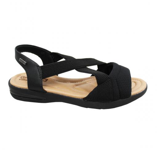 Sandalia Comfort Flex Preto Feminino 19-66405