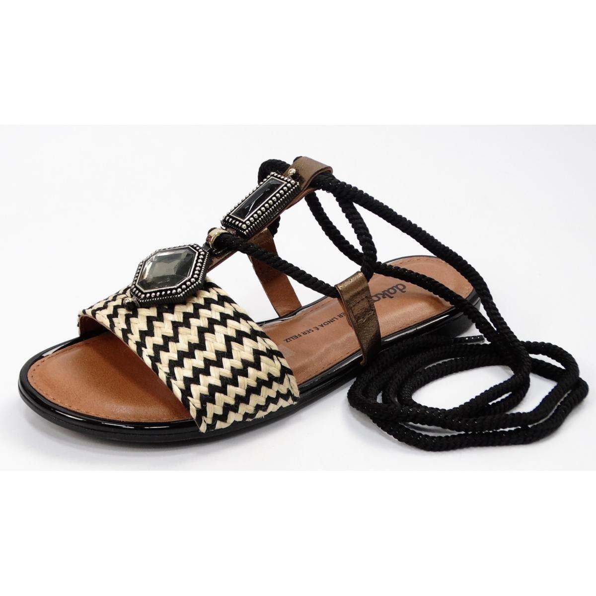 Sandalia Dakota Preto/Bege Feminino Z5901