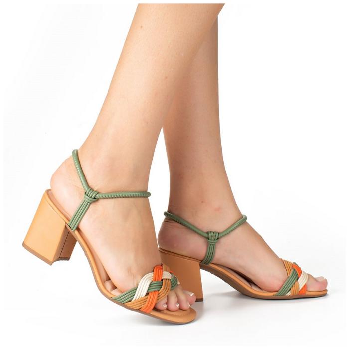 Sandália Dakota Verde/Laranja Feminino Z8712