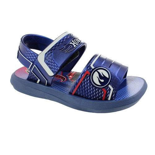 Sandalia Grendene Azul/Vermelho/Cinza Masculino 22342 Hot Wheels