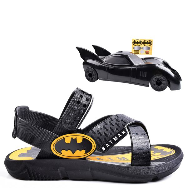 Sandalia Grendene Preto/Amarelo Masculino 22169 Batman Batmovel