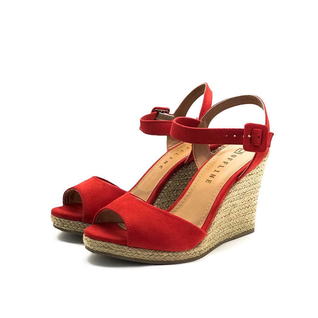 Sandalia Off Line Vermelho Feminino 5301 21468