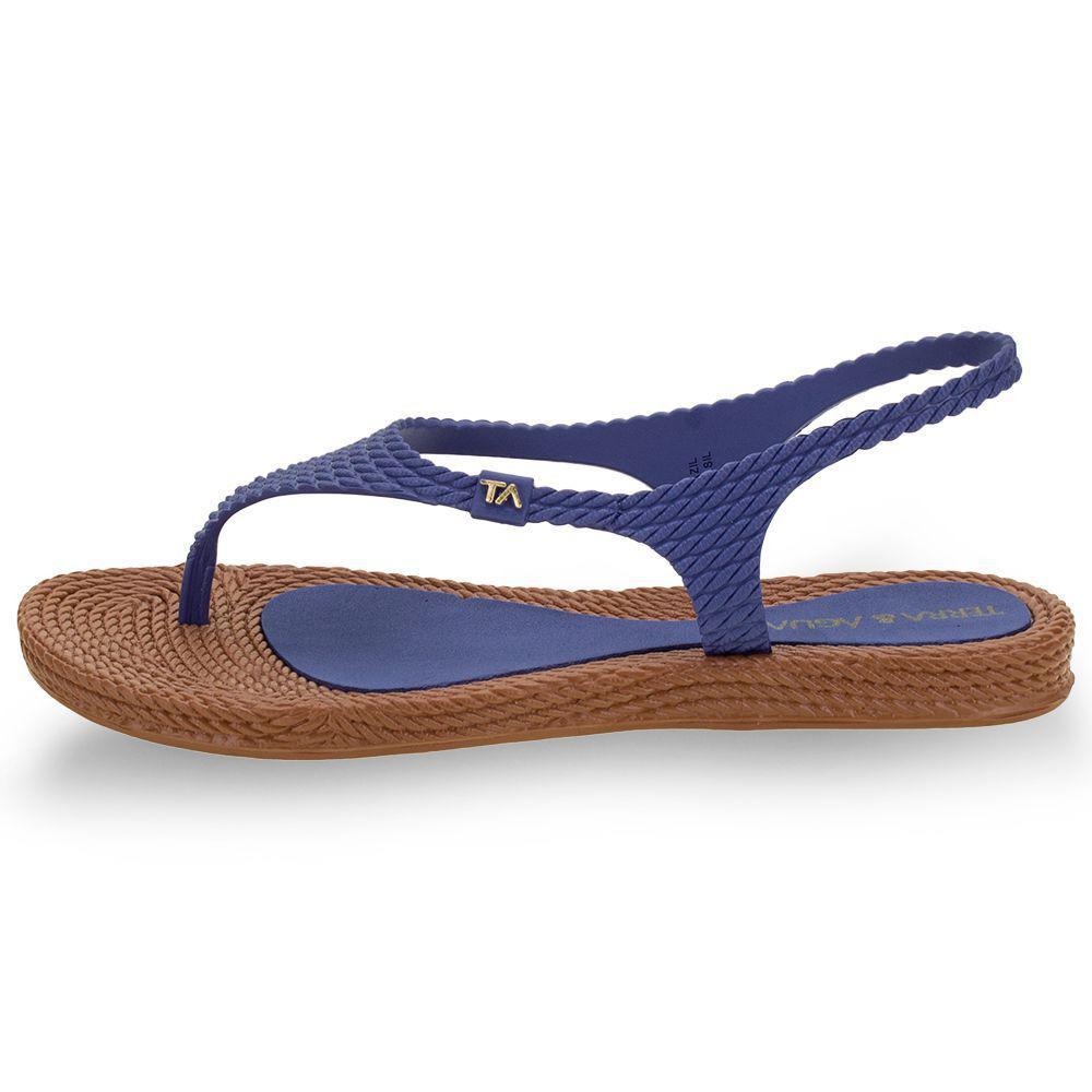Sandalia Terra E Agua Azul/Caramelo Feminino 260600