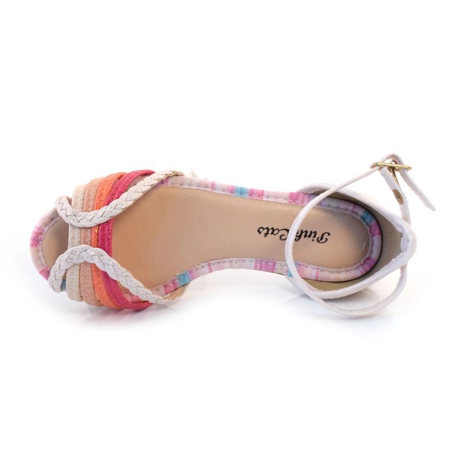 Sandalia Pink Cats Amendoa Feminino V0762