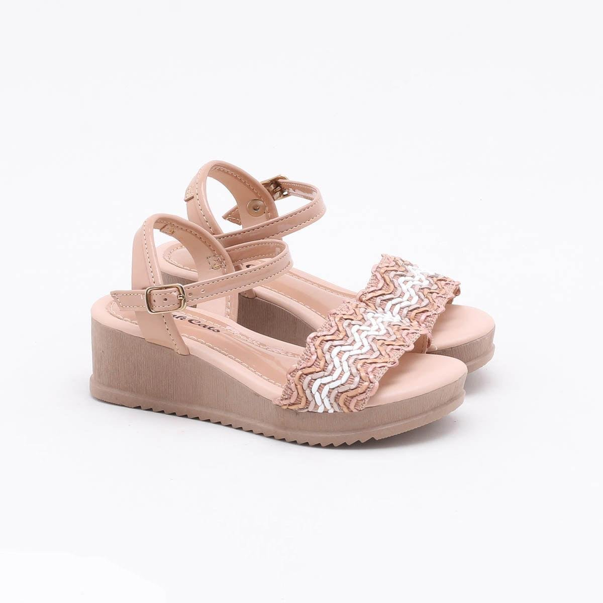 Sandalia Pink Cats Nude/Bege Feminino V1421