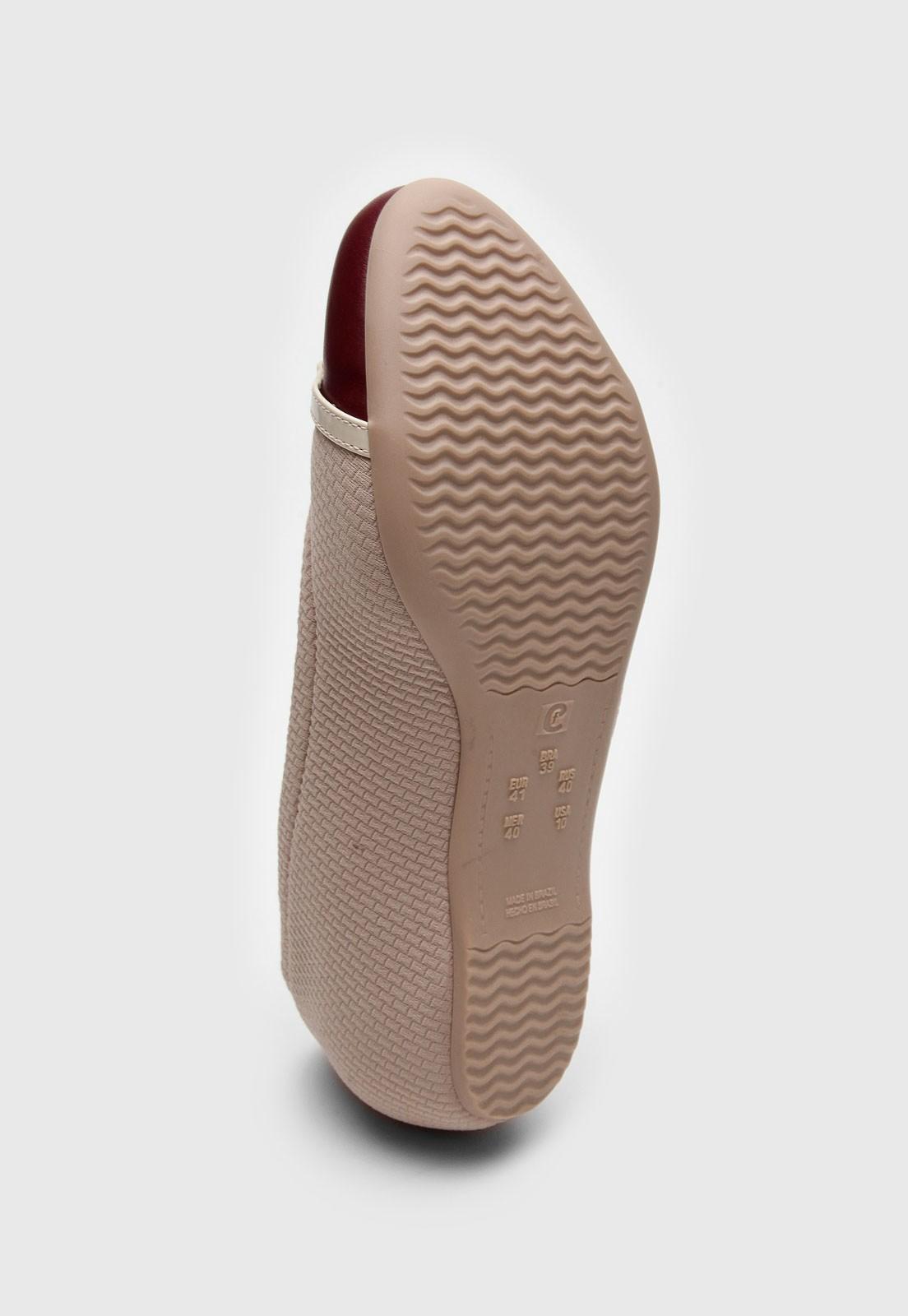 Sapatilha Comfort Flex Nude/Vinho Feminino 2084303