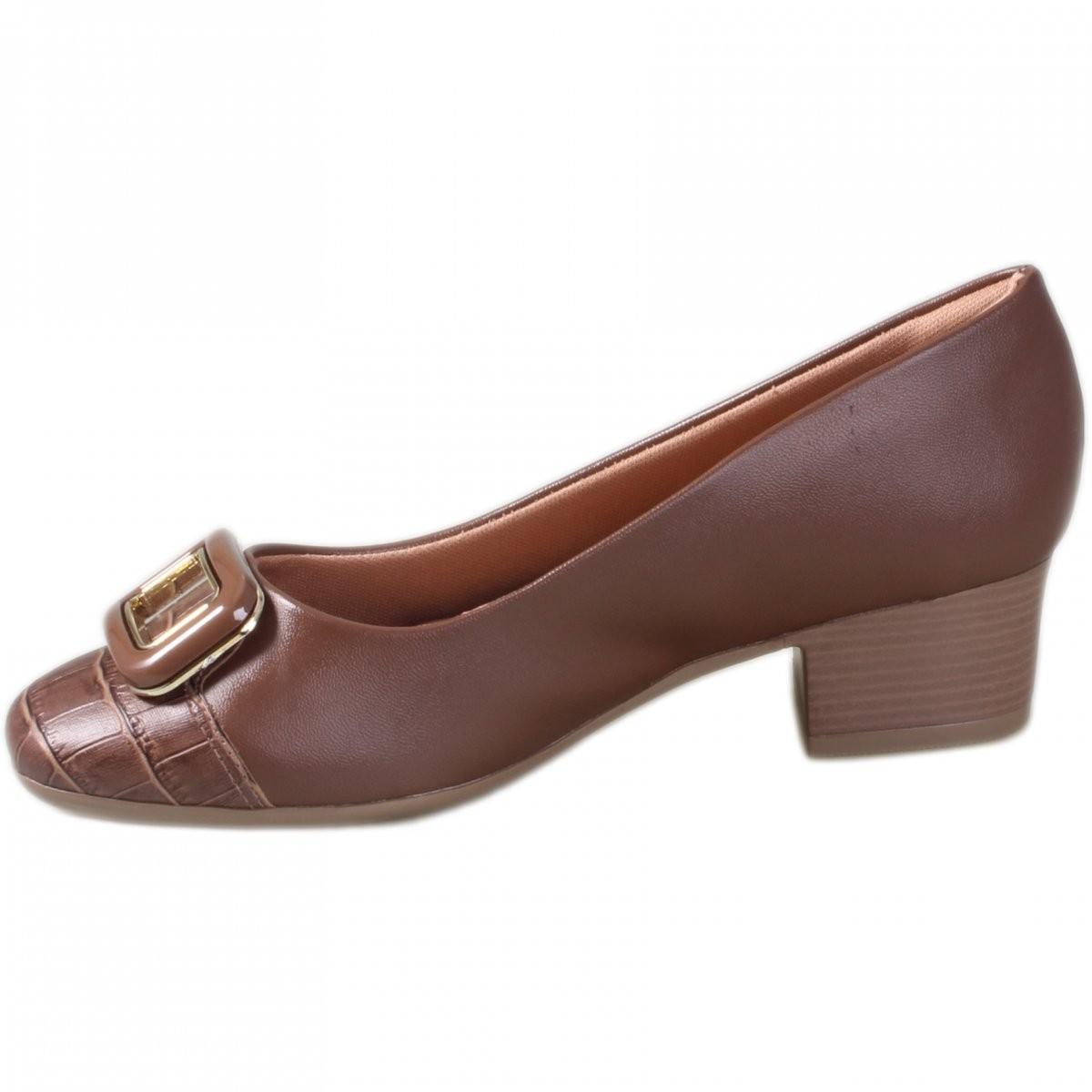 Sapato Comfort Flex Cravo Feminino 1986303