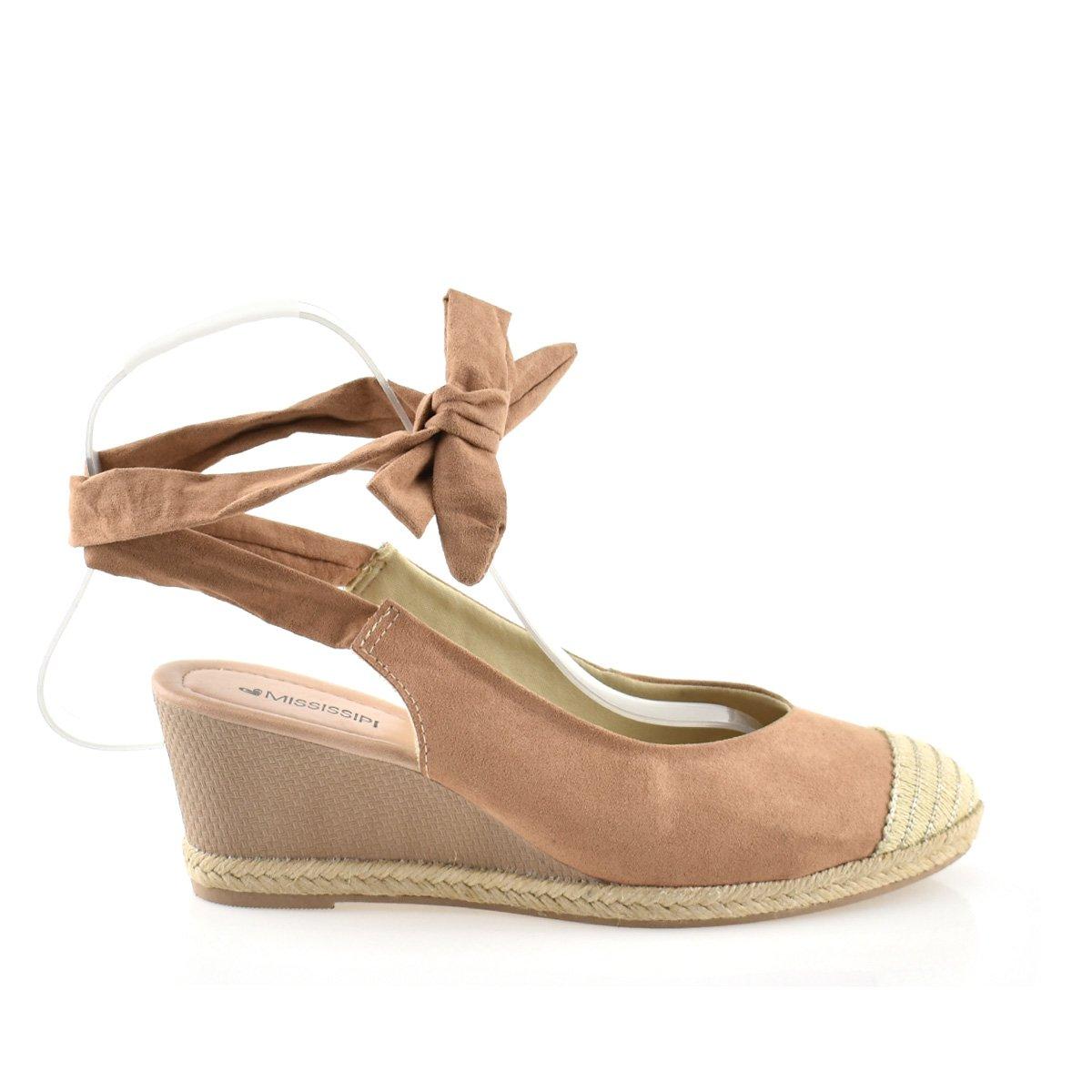 Sapato Salto Anabela Mississipi Amendoa Feminino Q0191