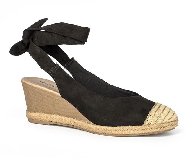 Sapato Salto Anabela Mississipi Preto Feminino Q0191