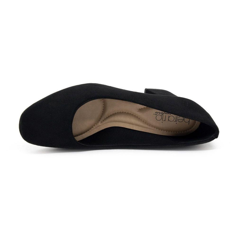 Sapato Salto Baixo Beira Rio Preto Feminino 4245.100