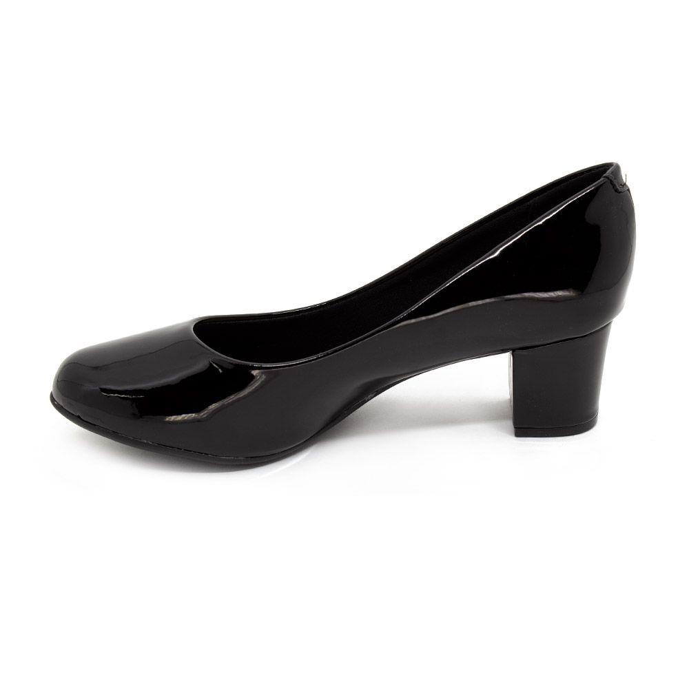 Sapato Salto Baixo Beira Rio Preto Feminino 4777.309