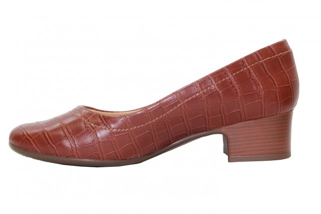 Sapato Salto Baixo Comfort Flex Castor/Nude Feminino 20-86301