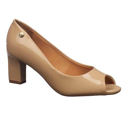 Sapato Salto Medio Vizzano Bege Feminino 1818.400