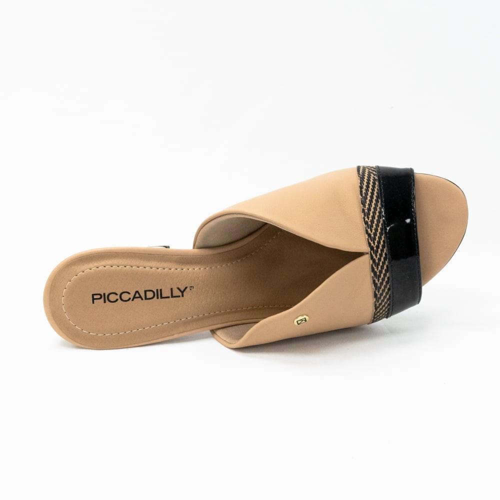 Tamanco Piccadilly Nude/Preto Feminino 542104