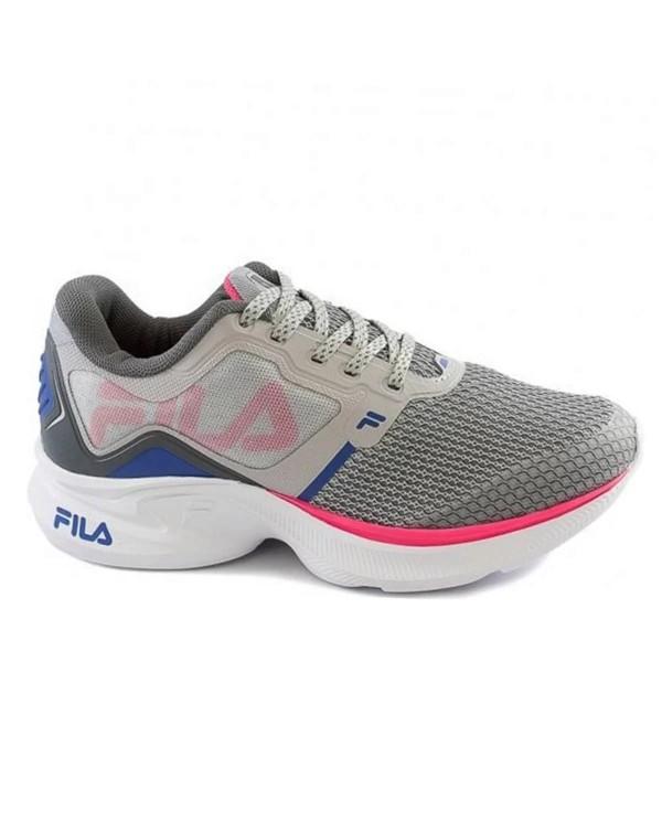 Tenis Fila Cinza/Rosa/Azul Feminino Racer Move