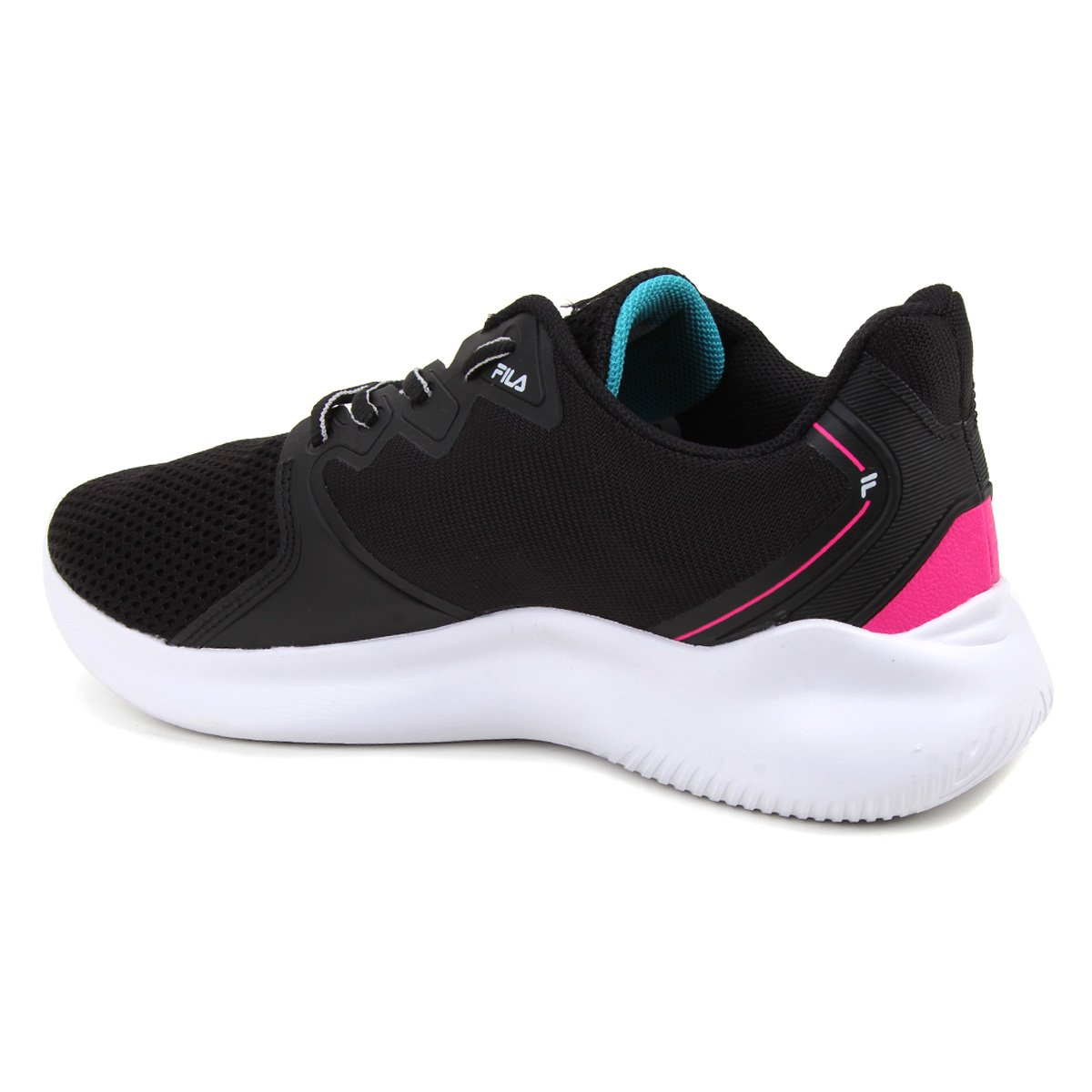 Tenis Fila Preto/Pink Feminino Sparky