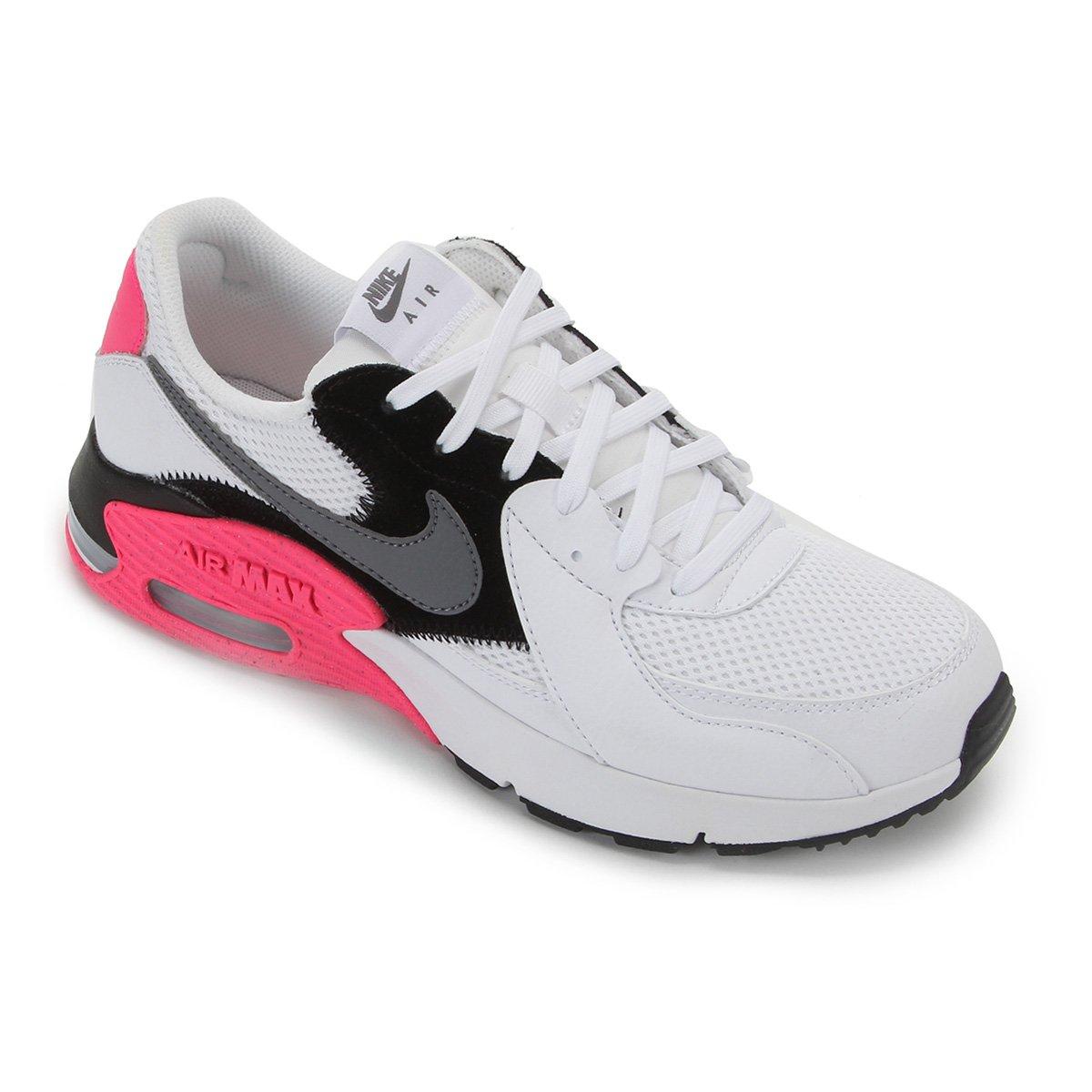 Tenis Nike Branco/Cinza/Pink Feminino Air Max Excee