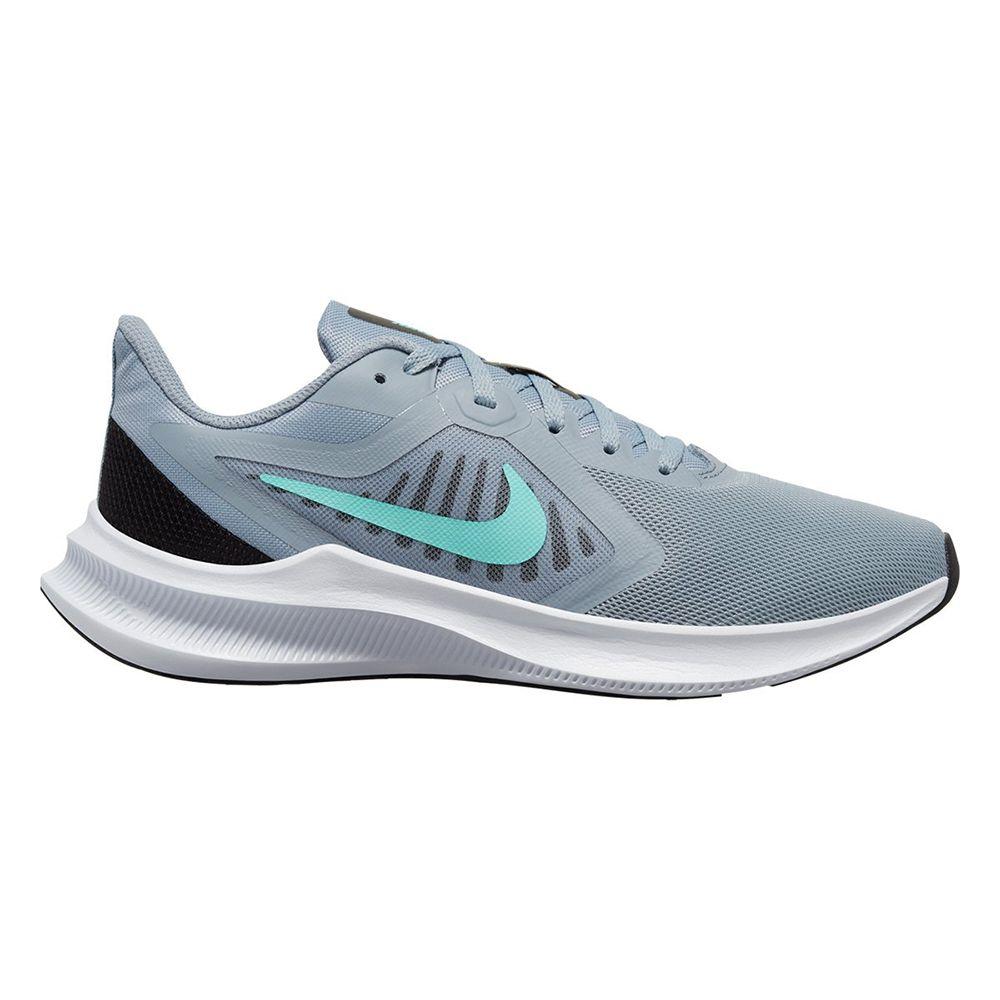 Tenis  Nike Cinza/Verde Feminino Downshifter 10 Ci9984-400