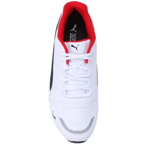 Tênis Puma Branco/Vermelho/Preto Masculino Respin