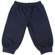 Calça De Moletom Para Bebê Tam. 6m A 18m Cor Azul Marinho