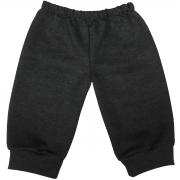 Calça de Moletom Para Bebê Tamanhos 6 ao 18 Meses - Cor Cinza Escuro (Grafite)