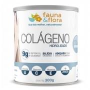 Colágeno Hidrolisado em Pó com Silício Orgânico Fauna e Flora 300g Sabor Original