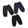 Calça de Moletom Para Bebês 6 a 18 Meses - Kit 3 Calças (Preta, Azul-Marinho e Grafite)