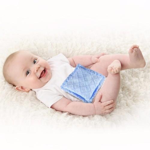Bolsa Térmica para Cólica em Bebês | Estampa Estrelas Fundo Verde Água