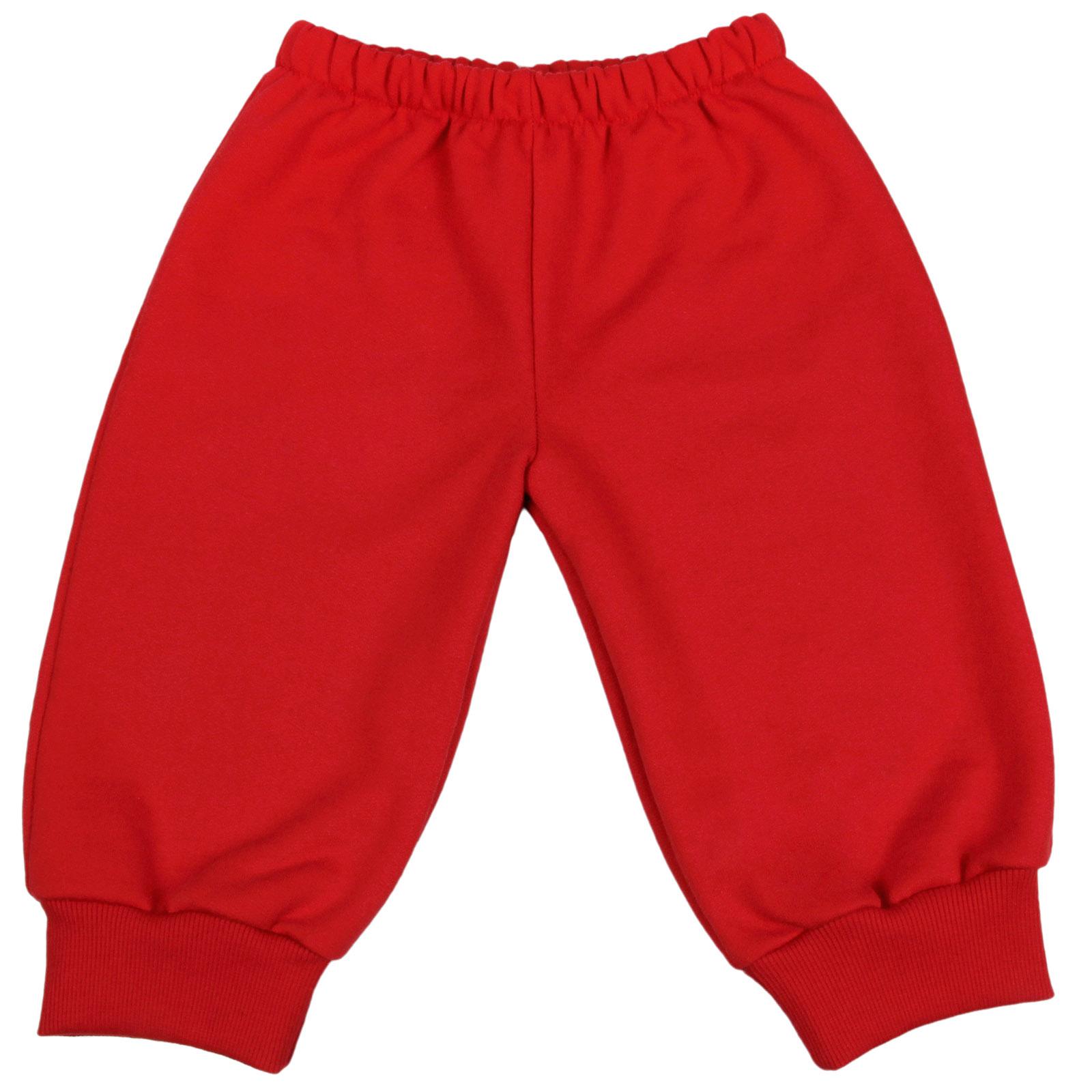 Calça De Moletom Para Bebê Tam. 6m A 18m Cor Vermelho