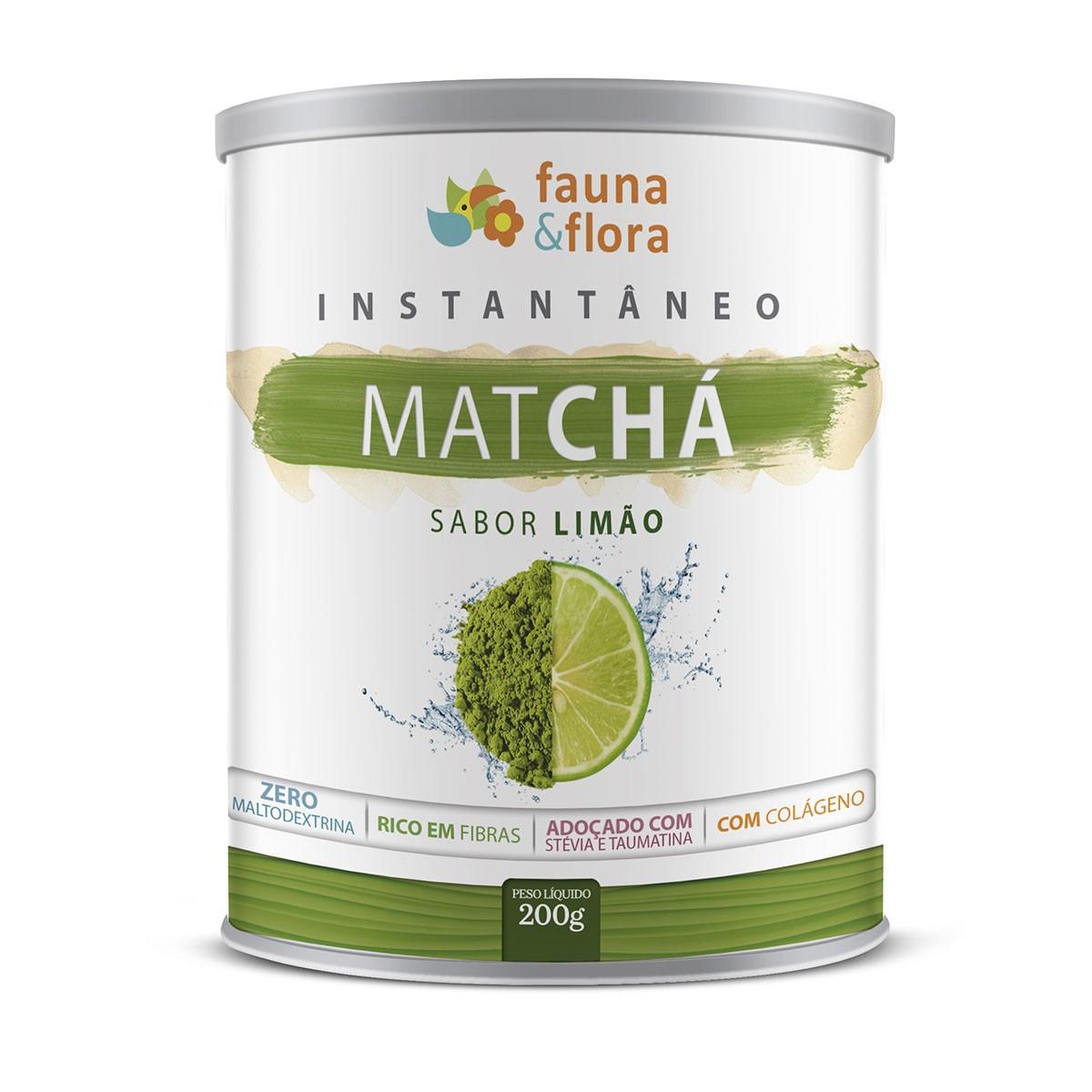 Chá Instantâneo Matcha 200g Fauna & Flora | Diurético Kit 3x