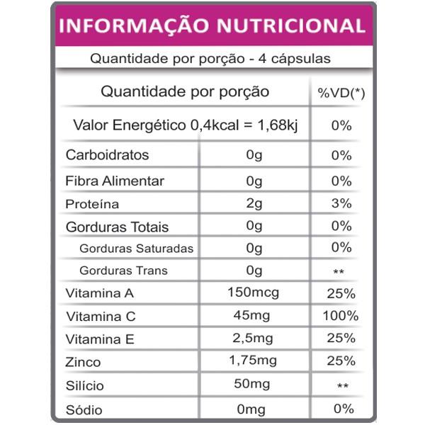 Colágeno Hidrolisado com Silício Orgânico e Vitaminas 500mg 120 Caps Fauna & Flora