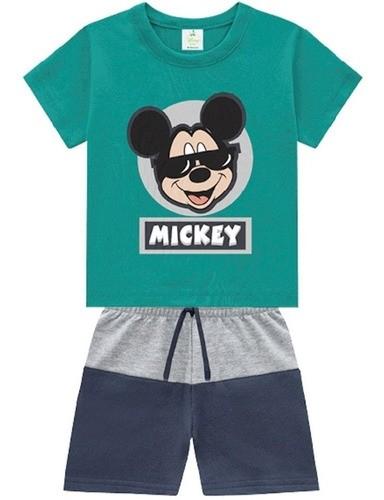 Conjunto Verão Disney Mickey Brandili Para Bebê