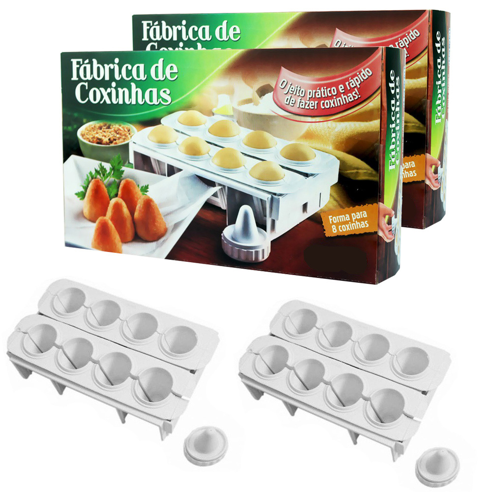 Fábrica de Coxinhas LigBrin 8 Coxinhas - Kit 2 Fábricas