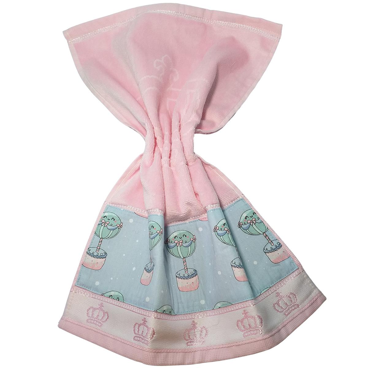 Kit Bebê 3 Peças Estampa Balões | Bolsa Térmica Cólicas, Toalha de Boca e Protetor de Porta