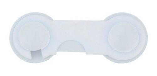 Kit C/ 10 Travas Armário Porta Correr Clink - Cor Branca