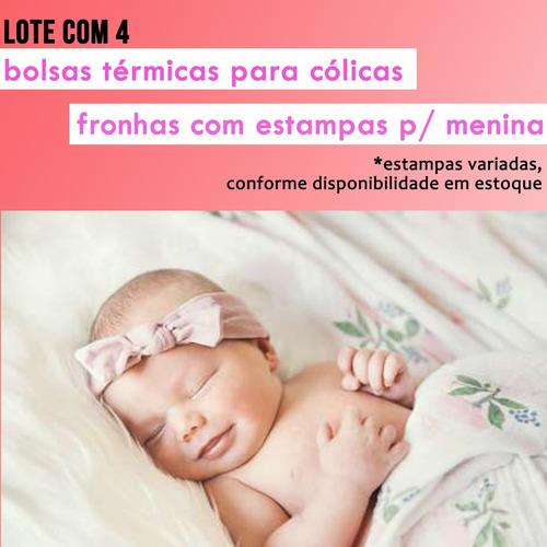 Lote com 4 Bolsas Térmicas para Cólica em Bebê - Estampas Femininas
