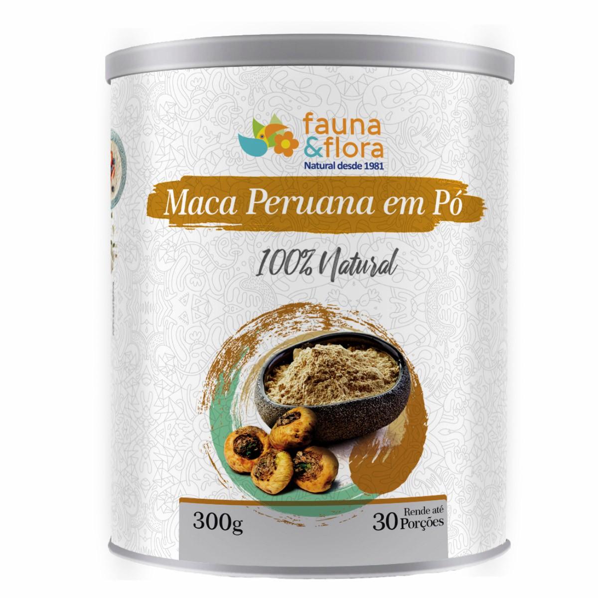 Maca Peruana Em Pó 300g Fauna e Flora