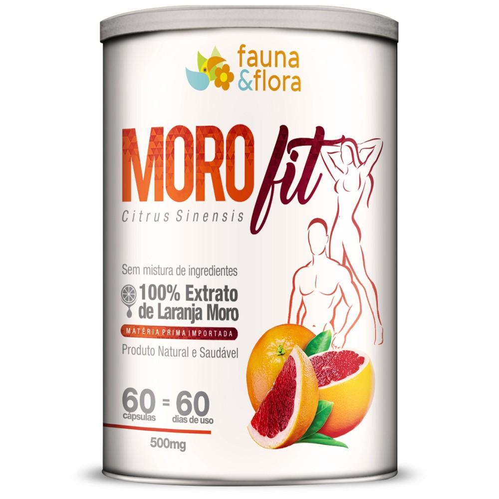 Morofit 500mg Fauna & Flora - Emagrecedor à Base de Laranja Moro - 60 Cápsulas