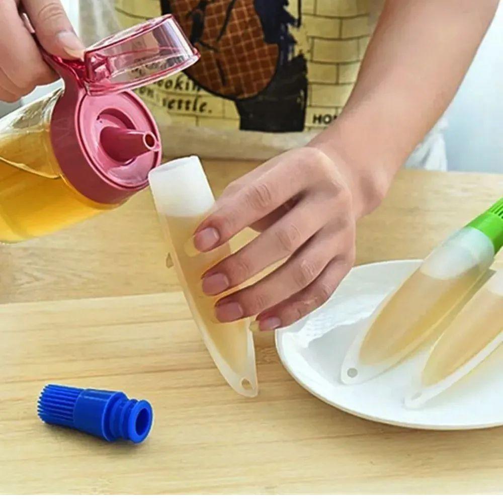 Pincel Culinário de Silicone Clink | Com Dispenser