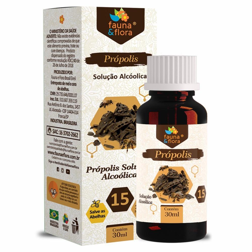 Própolis Marrom 30 ml Fauna & Flora - Solução Alcoólica 15%